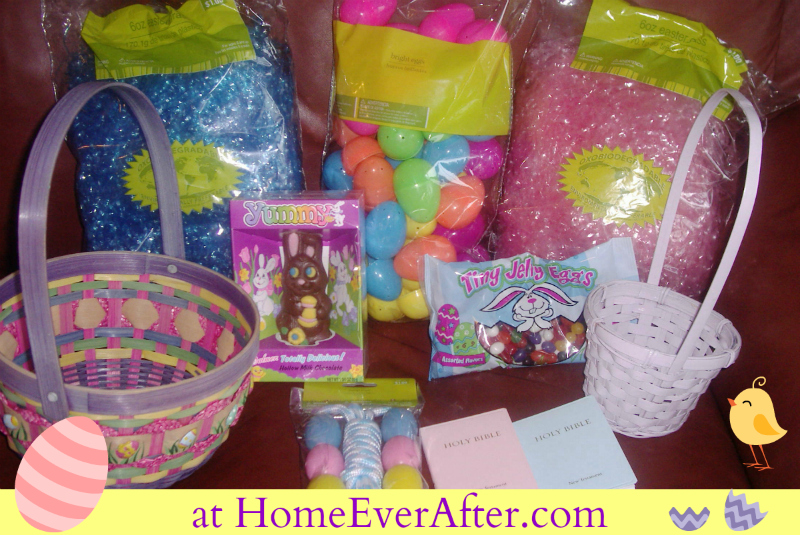 Frugal Easter Baskets Supplies