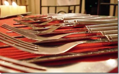 Forks Dinner Table Setting