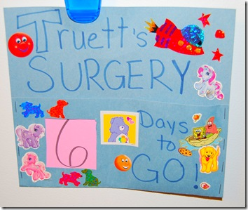 Surgery Countdown Craft Project