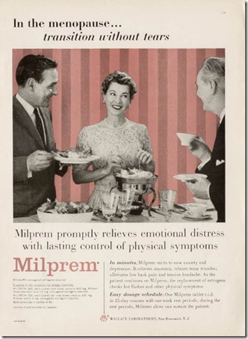 Miltown Homemakers 1950 Menopause