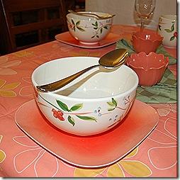 Oriental summer tablescape