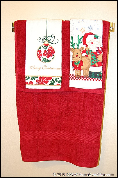 Holiday Bathroom Towels