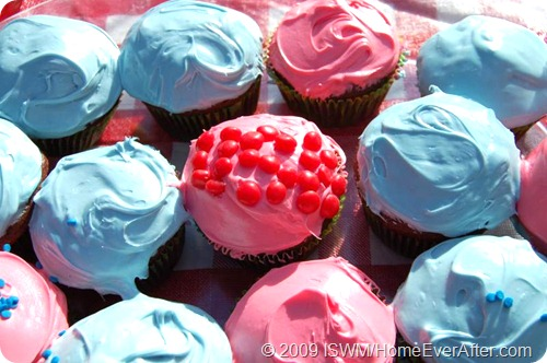 Red White and Blue Americana Cupcakes