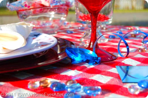 Red White and Blue Americana Table Setting