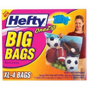 Hefty One Zip Big Bag Xl 4 Pack