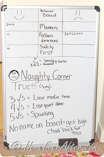Naughty Corner Board-HEA