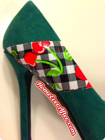 How to Make Duck Tape Retro Pinup Prom Shoes