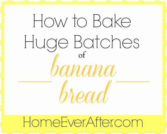 How to Bake Huge Batches of Banana Bread Cover w lines