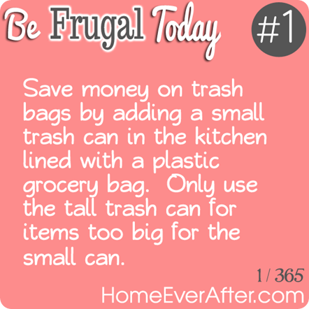 Be Frugal Today Tip 1 Trash