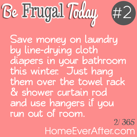 Be Frugal Today Tip 2 Cloth Diapers