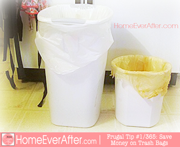 Frugal Tips 1 Save Money on Trash Bags