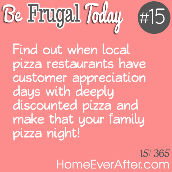 Be Frugal Today Tip 15 Pizza