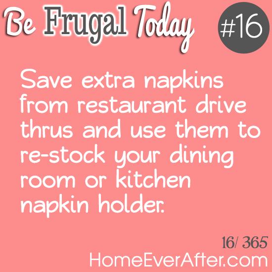 Be Frugal Today Tip 16 Napkins
