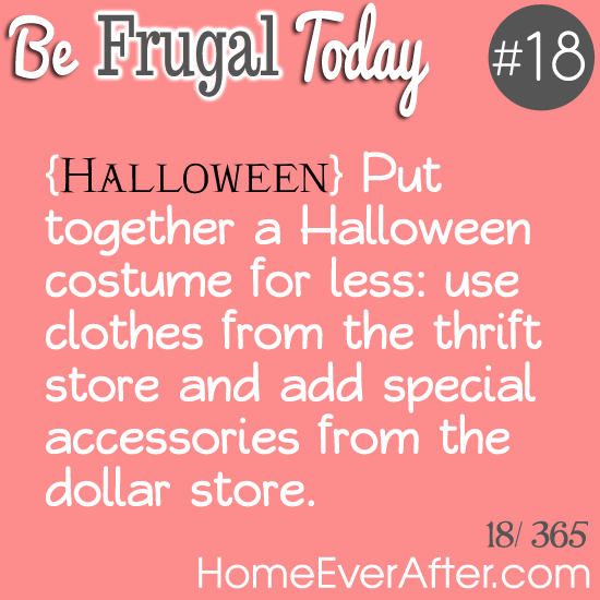 Be Frugal Today Tip 18 Thrift Costumes