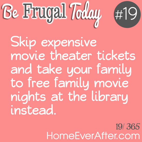 Be Frugal Today Tip 19 Library Movie Nights