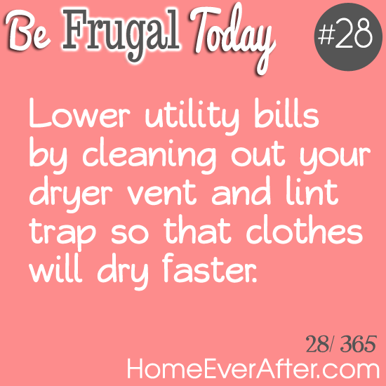 Be Frugal Today Tip 28 Dryer Vent