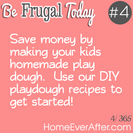 Be Frugal Today Tip 4 Playdough