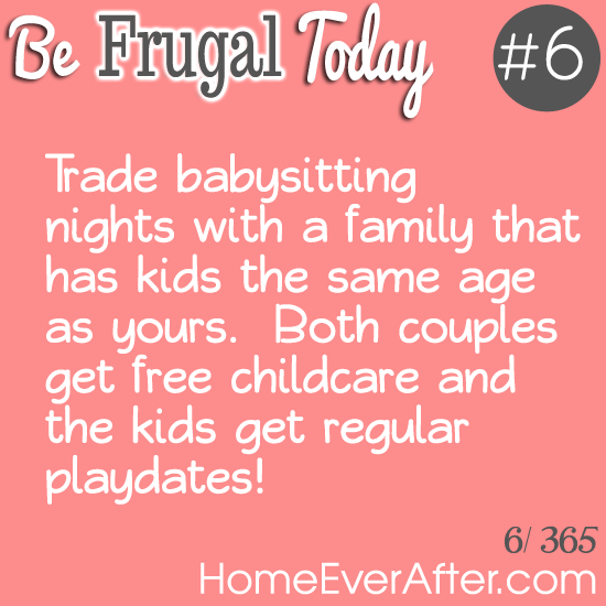 Be Frugal Today Tip 6 Trade Babysitting