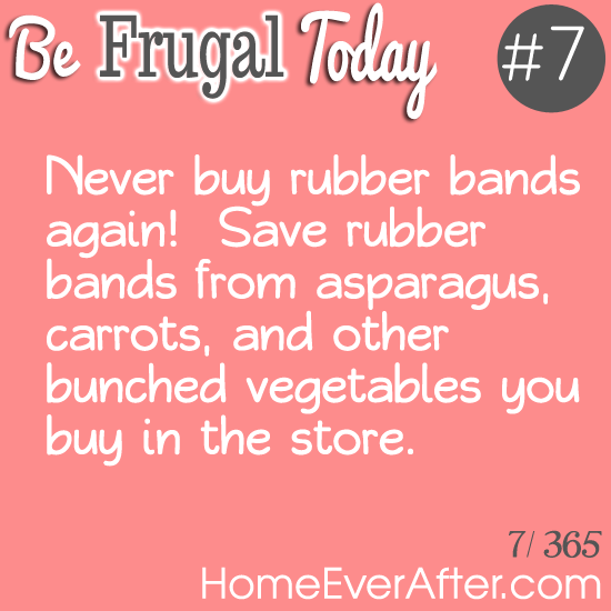 Be Frugal Today Tip 7 Rubber Bands