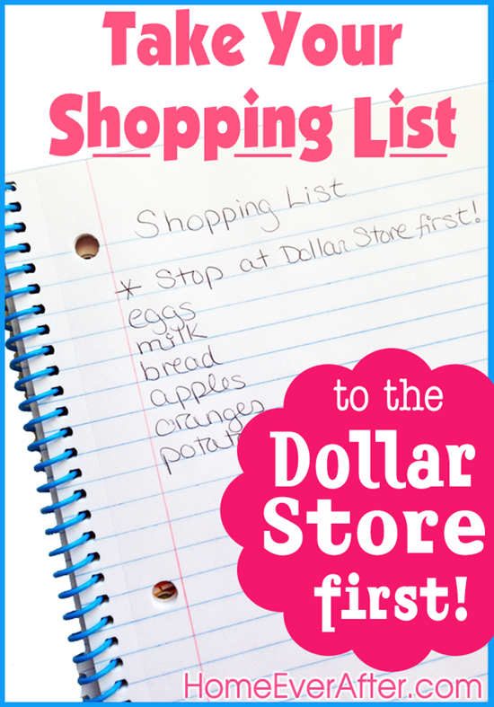 Take Your List to the Dollar Store First Home Ever After