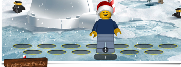 LEGO Minifigure Family Christmas card