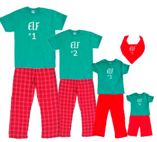 Santa's Elf Coordinating Family Outfits