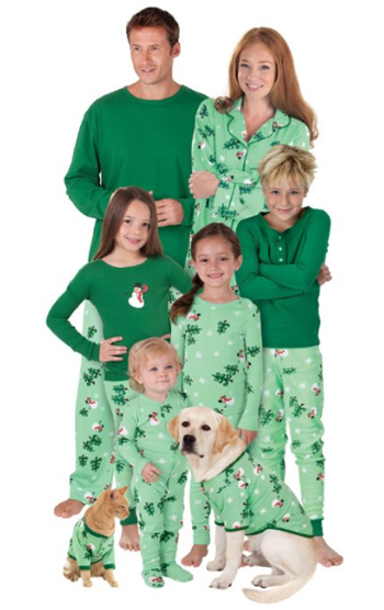 Let it snow man matchiing family pajamas
