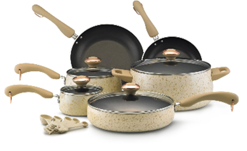 Buy the Paula Deen nonstick porcelain cookware set below at Amazon