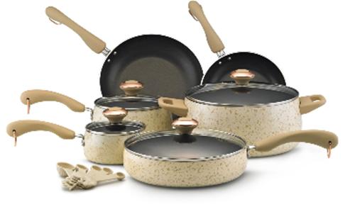 Buy the Paula Deen nonstick porcelain cookware set below at Amazon