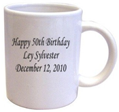 Personalized Just For You Coffee Mug at Amazon