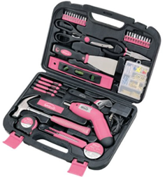 Apollo Pink Tools 135 Piece Tool Set