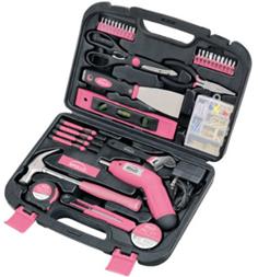 Apollo Pink Tools 135 Piece Tool Set
