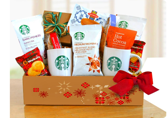Starbucks gift basket at Amazon