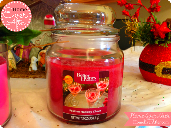 Festive Holiday Cheer Candle