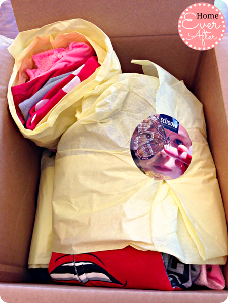 Schoola Wrapped Clothes in Box