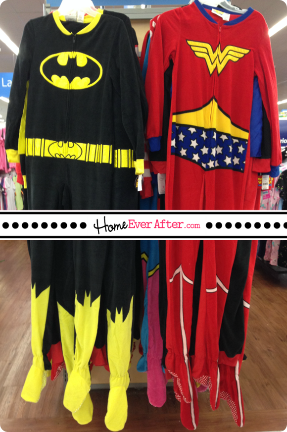 Adult Halloween Onesies Costumes Superhero Batman Wonderwoman Home Ever After