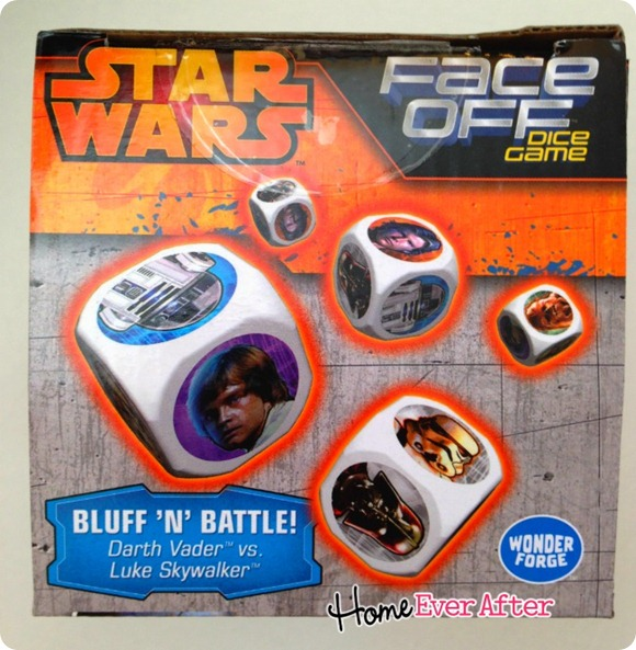 Star Wars Face Off Dice Game Box